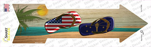 US and Indiana Flag Flip Flop Wholesale Novelty Arrow Sticker Decal