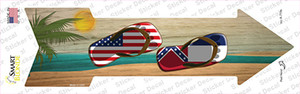 US and Mississippi Flag Flip Flop Wholesale Novelty Arrow Sticker Decal