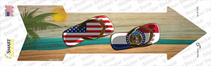 US and Missouri Flag Flip Flop Wholesale Novelty Arrow Sticker Decal