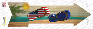 US and Nevada Flag Flip Flop Wholesale Novelty Arrow Sticker Decal