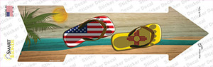 US and New Mexico Flag Flip Flop Wholesale Novelty Arrow Sticker Decal