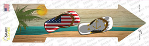 US and Rhode Island Flag Flip Flop Wholesale Novelty Arrow Sticker Decal