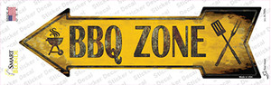 BBQ Zone Left Wholesale Novelty Arrow Sticker Decal