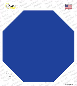 Blue Solid Wholesale Novelty Octagon Sticker Decal
