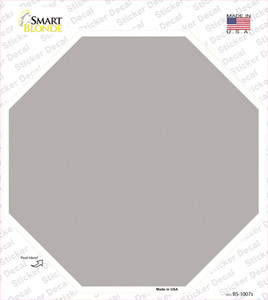 Gray Solid Wholesale Novelty Octagon Sticker Decal