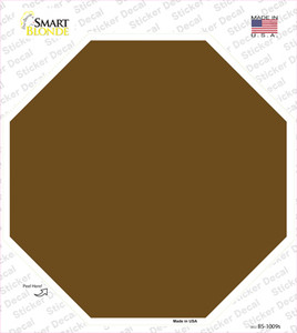 Brown Solid Wholesale Novelty Octagon Sticker Decal