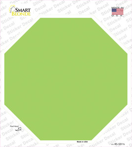 Lime Green Solid Wholesale Novelty Octagon Sticker Decal
