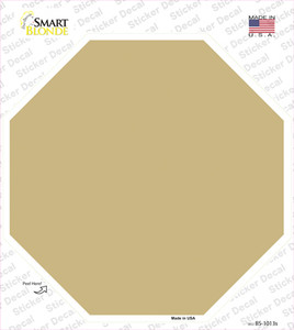 Gold Solid Wholesale Novelty Octagon Sticker Decal