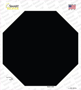 Black Solid Wholesale Novelty Octagon Sticker Decal