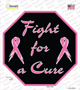 Fight For a Cure Wholesale Novelty Octagon Sticker Decal