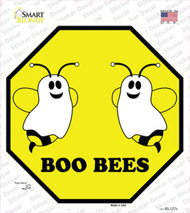 Boo Bees Wholesale Novelty Octagon Sticker Decal