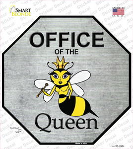 Office of the Queen Wholesale Novelty Octagon Sticker Decal