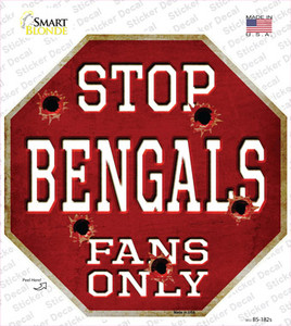 Bengals Fans Only Wholesale Novelty Octagon Sticker Decal