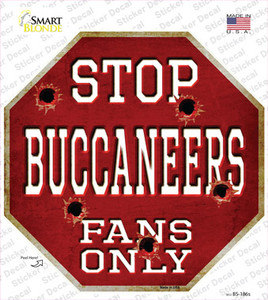 Buccaneers Fans Only Wholesale Novelty Octagon Sticker Decal