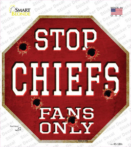 Chiefs Fans Only Wholesale Novelty Octagon Sticker Decal