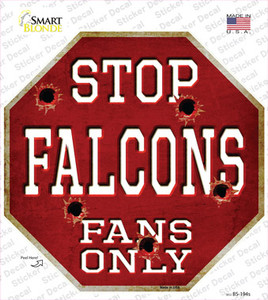 Falcons Fans Only Wholesale Novelty Octagon Sticker Decal