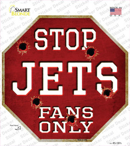 Jets Fans Only Wholesale Novelty Octagon Sticker Decal