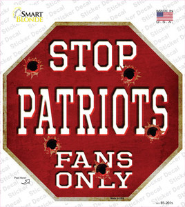 Patriots Fans Only Wholesale Novelty Octagon Sticker Decal