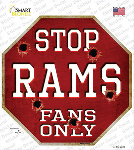 Rams Fans Only Wholesale Novelty Octagon Sticker Decal