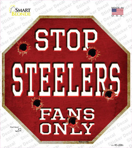 Steelers Fans Only Wholesale Novelty Octagon Sticker Decal