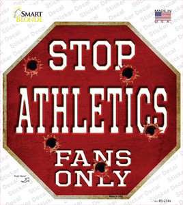 Athletics Fans Only Wholesale Novelty Octagon Sticker Decal