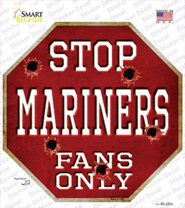 Mariners Fans Only Wholesale Novelty Octagon Sticker Decal