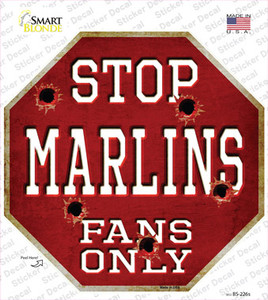 Marlins Fans Only Wholesale Novelty Octagon Sticker Decal