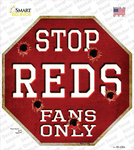 Reds Fans Only Wholesale Novelty Octagon Sticker Decal