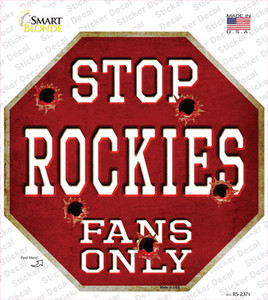Rockies Fans Only Wholesale Novelty Octagon Sticker Decal