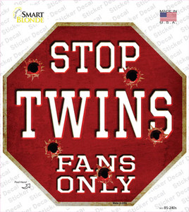 Twins Fans Only Wholesale Novelty Octagon Sticker Decal