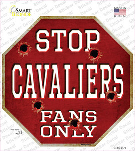 Cavaliers Fans Only Wholesale Novelty Octagon Sticker Decal