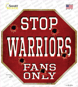 Warriors Fans Only Wholesale Novelty Octagon Sticker Decal