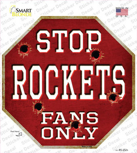 Rockets Fans Only Wholesale Novelty Octagon Sticker Decal