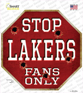 Lakers Fans Only Wholesale Novelty Octagon Sticker Decal