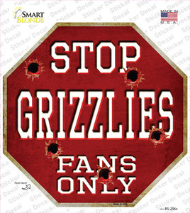 Grizzlies Fans Only Wholesale Novelty Octagon Sticker Decal