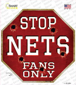 Nets Fans Only Wholesale Novelty Octagon Sticker Decal
