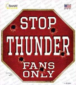 Thunder Fans Only Wholesale Novelty Octagon Sticker Decal