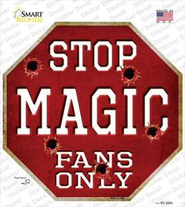 Magic Fans Only Wholesale Novelty Octagon Sticker Decal