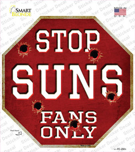 Suns Fans Only Wholesale Novelty Octagon Sticker Decal