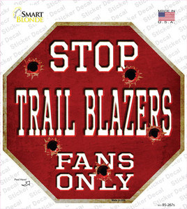 Trailblazers Fans Only Wholesale Novelty Octagon Sticker Decal