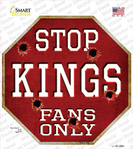 Kings Fans Only Wholesale Novelty Octagon Sticker Decal