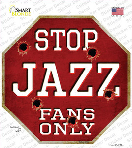 Jazz Fans Only Wholesale Novelty Octagon Sticker Decal