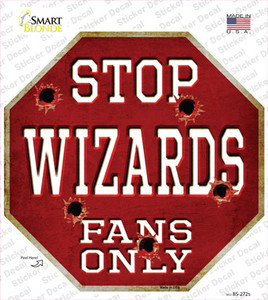 Wizards Fans Only Wholesale Novelty Octagon Sticker Decal
