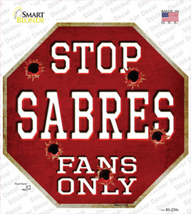 Sabres Fans Only Wholesale Novelty Octagon Sticker Decal