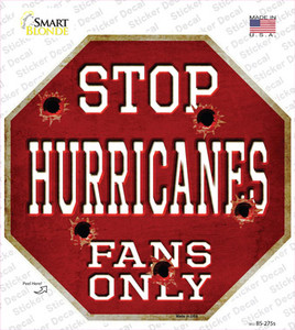 Hurricanes Fans Only Wholesale Novelty Octagon Sticker Decal