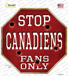 Canadiens Fans Only Wholesale Novelty Octagon Sticker Decal