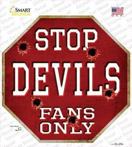 Devils Fans Only Wholesale Novelty Octagon Sticker Decal