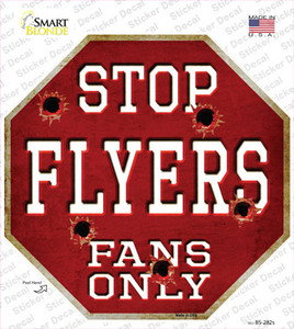 Flyers Fans Only Wholesale Novelty Octagon Sticker Decal