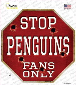 Penguins Fans Only Wholesale Novelty Octagon Sticker Decal