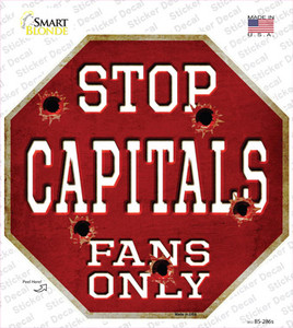 Capitals Fans Only Wholesale Novelty Octagon Sticker Decal